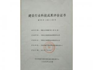 01型评估证书